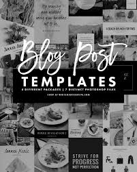 photoshop blog post templates for blogging and social media seven