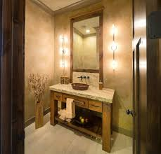 Powder Room Sinks And Vanities Powder Room Vanity Traditional With Wallpaper Artificial Flowers