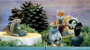 woodland critter ornaments from roost home furnishings set of 6