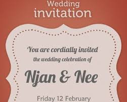 Wedding Invitation Card Sample In Photoshop Invitation Template U2013 Orderecigsjuice Info