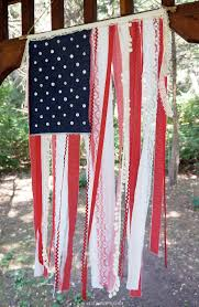 craftiments patriotic ribbon lace fabric scrap flag