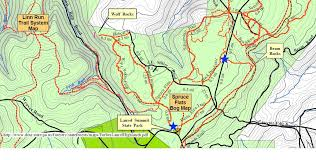 penn state park map wolf rocks and beam rocks overlook hikes forbes state forest