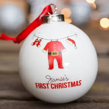 Baby S First Christmas Bauble 2014 by First Christmas Gifts Gettingpersonal Co Uk