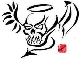 23 best tribal skull stencils images on skull 40 tribal skull