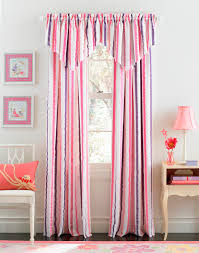 Pink Striped Curtains Sweet Bedroom Designs With Pink Curtain For Fetching White