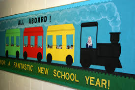 New Year Classroom Decorations by Preschool Train Bulletinboard Welcome Back To Classroom