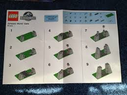 jurassic park jeep instructions jurassic world gate toys r us building instructions the brick