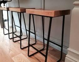 items similar to reclaimed wood u0026 iron pipe bar stools rustic