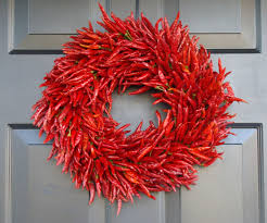 organic red chili pepper wreath kitchen wreath centerpiece