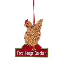 chicken rooster ornaments furrypartners