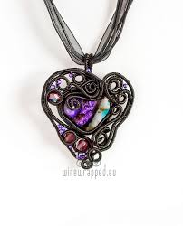 gothic heart necklace images Wire wrapped gothic heart pendant by ukapala jpg