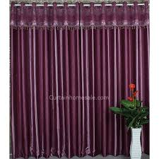 printing floral pattern good quality deep purple curtains