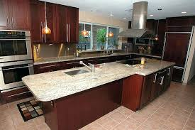 Cost Of Installing Kitchen Cabinets by Cost To Install Kitchen Cabinets And Countertops Image Of Oak