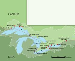canadian map with great lakes map of us and canada toronto 537795f6b986e4de65c9f6ed69d959bd