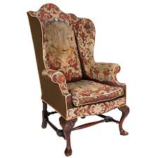 chair covering 18th century walnut wing chair with tapestry covering