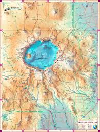 Find Map Coordinates File Nps Crater Lake Illustrated Map Jpg Wikimedia Commons