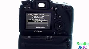 how to upgrade the firmware of a canon eos dslr camera youtube