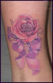 rose and ribbon tattoo i need a sterling silver rose and a purple
