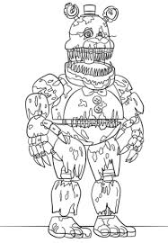 fnaf mangle coloring pages nightmare freddy coloring page free printable coloring pages
