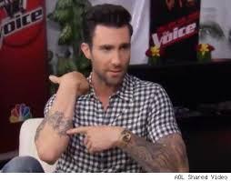 blake shelton and adam levine explain their tattoos cambio