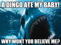 Baby Eating Sand Meme - a dingo ate my baby why wont you believe me funny shark meme