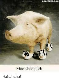 Moo Meme - ahajokescom moo shoe pork hahahaha meme on me me