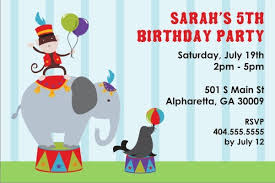 personalized party invites news carnival and circus birthday
