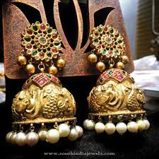 big jhumka gold earrings big gold bridal jhumka big gold and indian jewelry