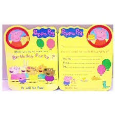 peppa pig party supplies peppa pig party invitations pack of 8 peppa pig party