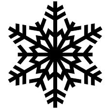 snowflakes silhouette clipart