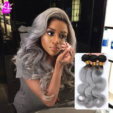 silver hair extensions 1b grey wave hair two tone ombre hair grey