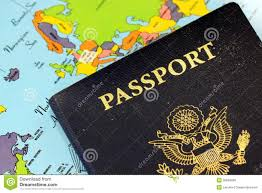 United States Travel Map by Usa Passport With World Map Stock Photo Image 35684690