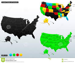Us Political Map United States Of America Political Map Royalty Free Stock Us Map