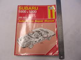 1980 1989 automotive repair manual subaru 1600 u0026 1800 green bay