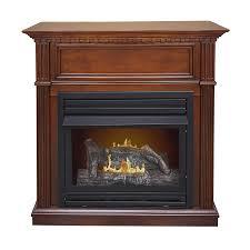 shop pleasant hearth 42 in dual burner vent free cherry corner