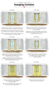 Hanging Panel Curtains Dos U0026 Don U0027ts Of Hanging Curtains Tips U0026 Measurements Apartment