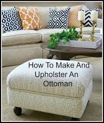 Ottoman Diy The No Sew Way To Recover An Ottoman Ottomans Upholstery And Craft