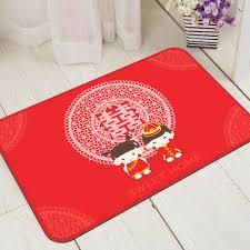 decorative floor mats home bedroom floor mat wedding style red couples soft decorative