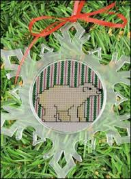 yarn tree snowflake ornament frame small 123stitch