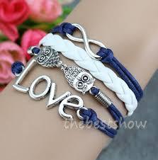 bracelet gift images Owl infinity love bracelets charm friendship bracelet gift jpg