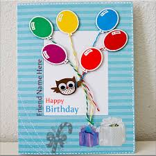 write your name on birthday cards for friends