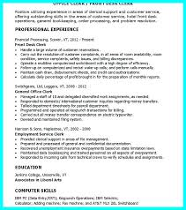 clerical resume templates front office clerk resume best photos of office clerk resume