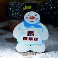 snowman countdown clock from premier decorations
