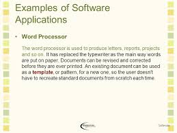 software software is a computer program or set of instructions