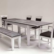 Esszimmertisch Dunkles Holz Esstisch Vintage Weiß 299