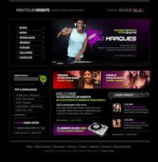 website template 10758 night club music custom website template