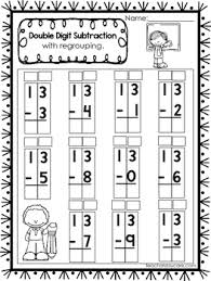 50 double digit subtraction with regrouping printable worksheets