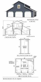 Three Car Garage With Apartment Plans Garage Apartment Plan 93472 Total Living Area 750 Sq Ft 1