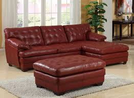 Leather Sectional Sofa Bed by Homelegance 9817 All Leather Sectional Sofa Set U2013 Red U9817red