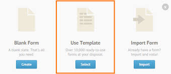 how to use form templates jotform